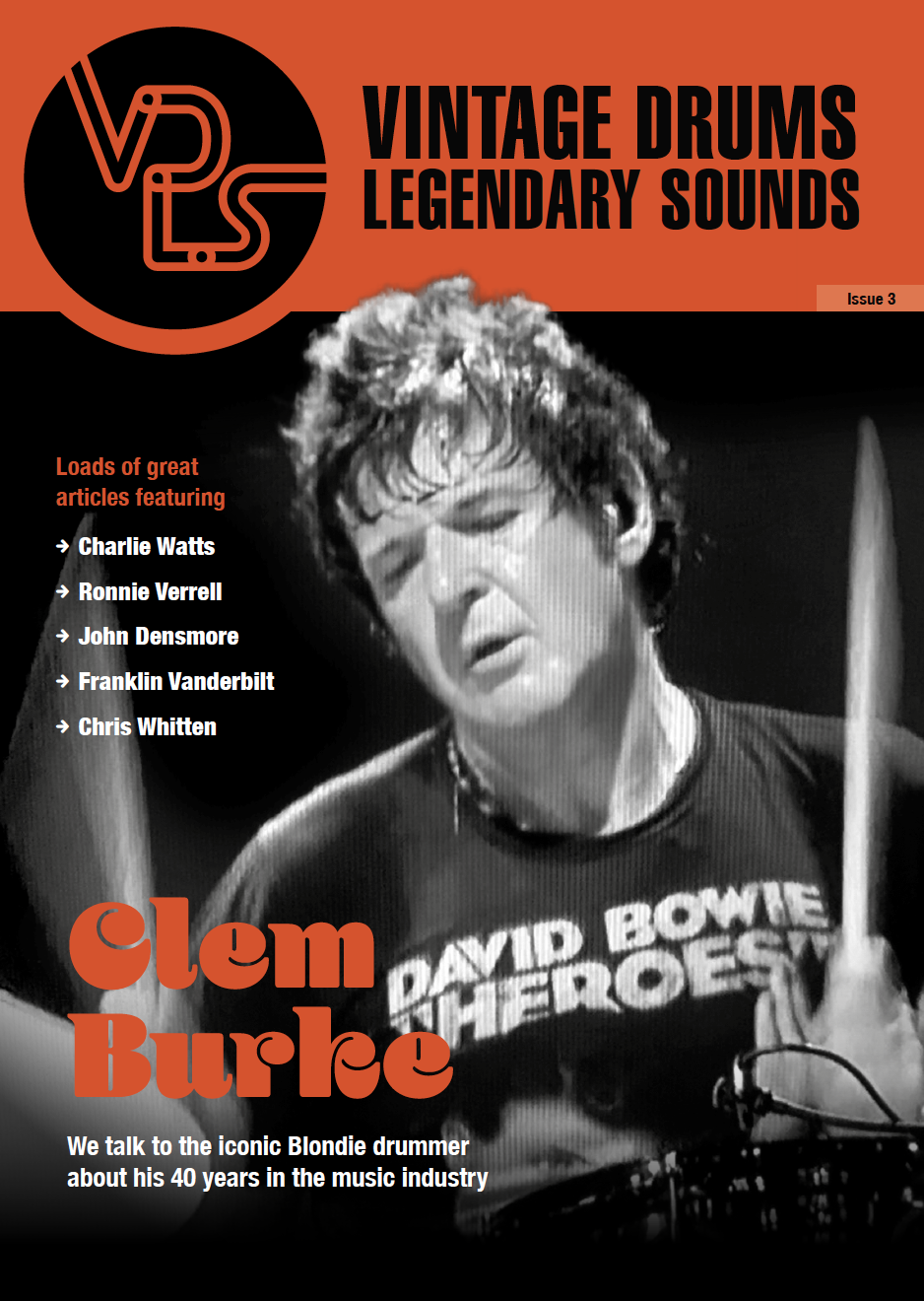 Vintage Drums Legendary Sounds Magazine. Issue 3. Front Cover